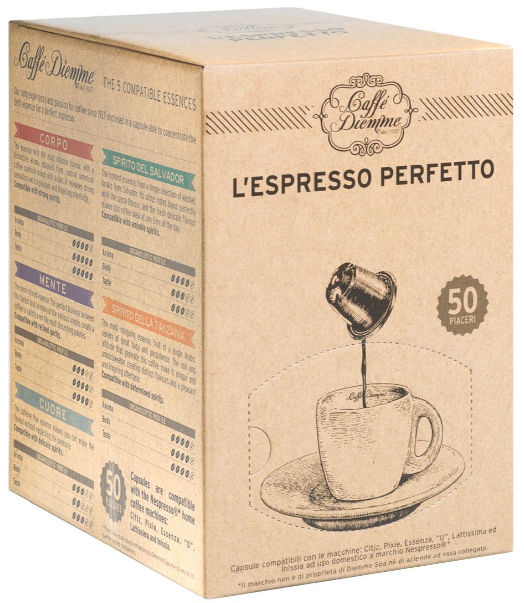 Diemme Caffe Corpo кофе в капсулах, 50 шт кофе в капсулах tassimo карт нуар кафе лонг интенс 128г