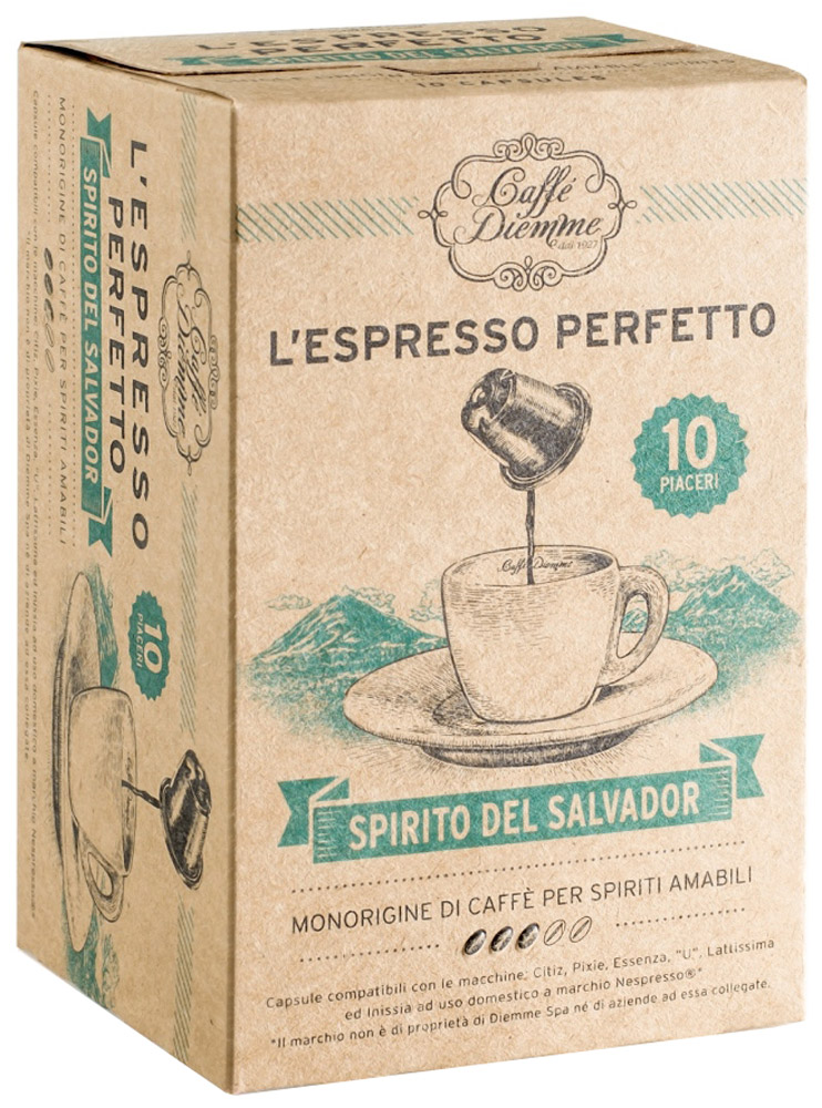 Фото Diemme Caffe Spirito del Salvador кофе в капсулах, 10 шт