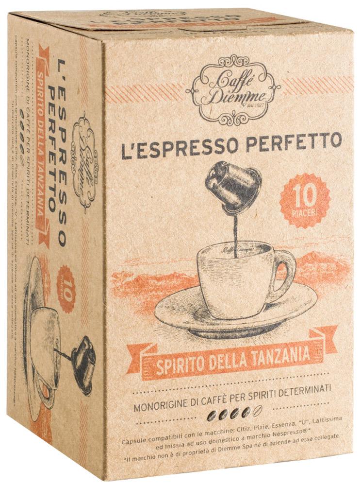Diemme Caffe Spirito della Tanzania кофе в капсулах, моносорт, 10 шт8003866016538Уникальные природные и экологические условия произрастания сорта Арабики в Танзании создают неповторимый интригующий вкус и аромат Diemme Caffe Spirito della Tanzaniaс приятным долгим послевкусием. Уважаемые клиенты! Обращаем ваше внимание на то, что упаковка может иметь несколько видов дизайна. Поставка осуществляется в зависимости от наличия на складе.Кофе: мифы и факты. Статья OZON Гид