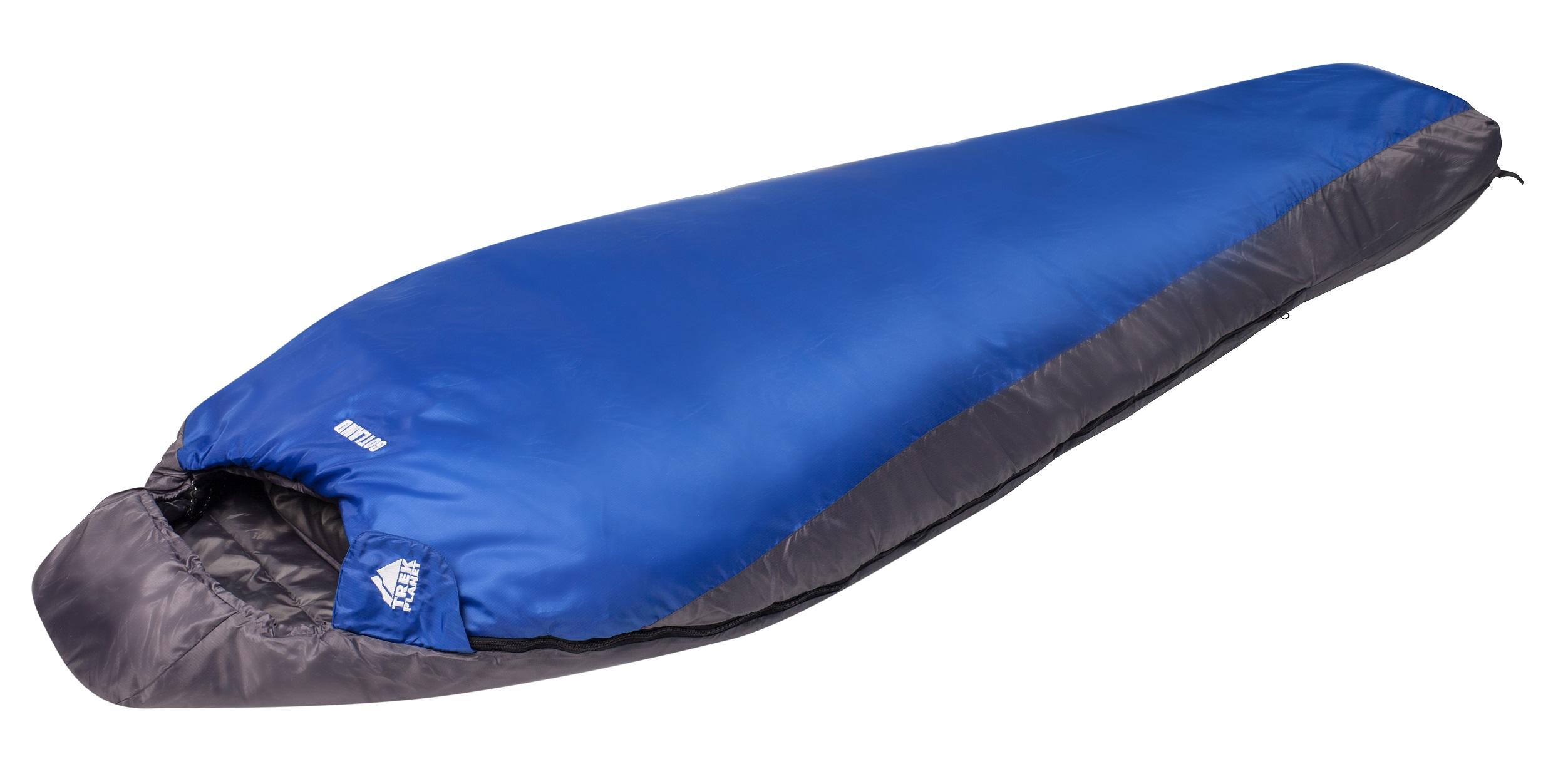 Спальный мешок Trek Planet Gotland, левосторонняя молния, цвет: темно-серый, синий