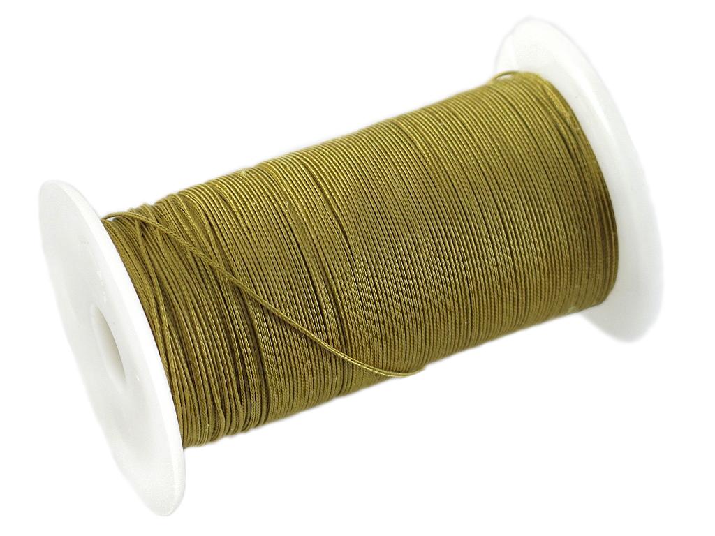 Нить кевларовая Solaris, на катушке, цвет: желтый, 0,5 мм х 200 м