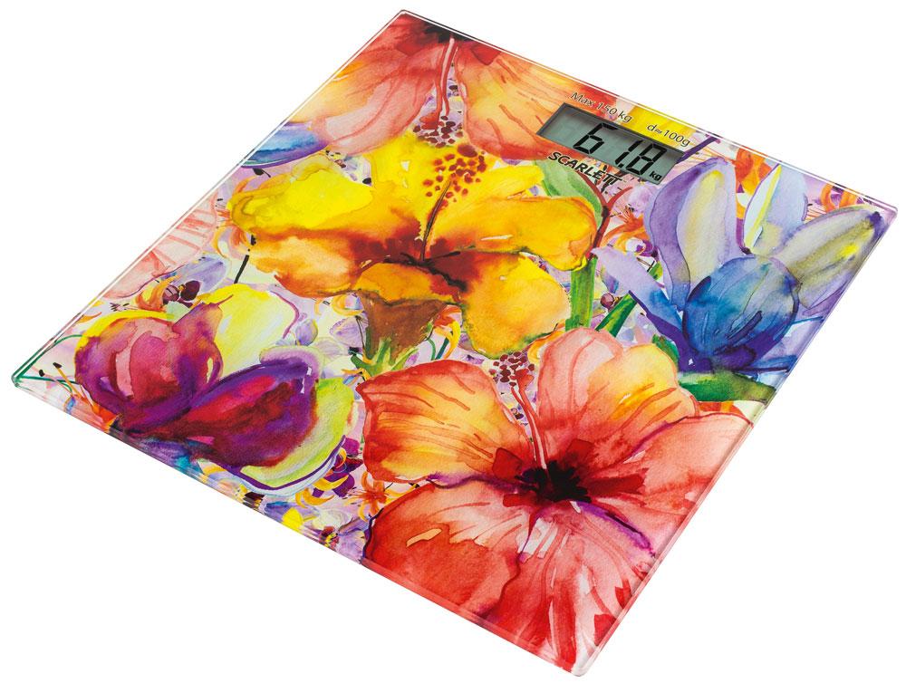 Scarlett SC-BS33E071, Flowers весы напольные - Напольные весы