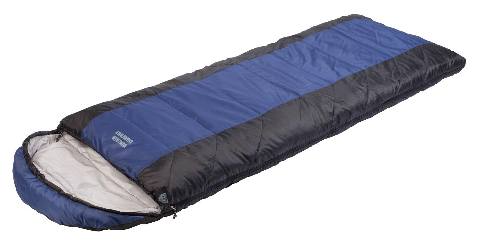 Спальник TREK PLANET Walker Comfort, цвет: темно-серый, синий, правосторонняя молния70384(н)-RКомфортный, просторный и теплый спальник-одеяло с капюшоном TREK PLANET Walker Comfort предназначен для походов и для отдыха на природе как в летнее время, так и в весенне-осенний период. Утеплен двумя слоями техничного 4-канального волокна Hollow Fiber. Внутренняя ткань: мягкий полиэстер (Pongee).Данная модель имеет возможность состегивания спальников между собой.Для этого вам необходимо приобрести спальник с правой и с левой молнией. Особенности:Глубокий удобный капюшон,4-канальный наполнитель Hollow Fiber,Внешний материал: полиэстер,Внутренняя ткань: мягкий полиэстер (Pongee),Молния имеет два замка с обеих сторон,Термоклапан вдоль молнии,Внутренний карман,Возможно состегивание спальников между собой,К спальнику прилагается чехол для удобного хранения и переноски.
