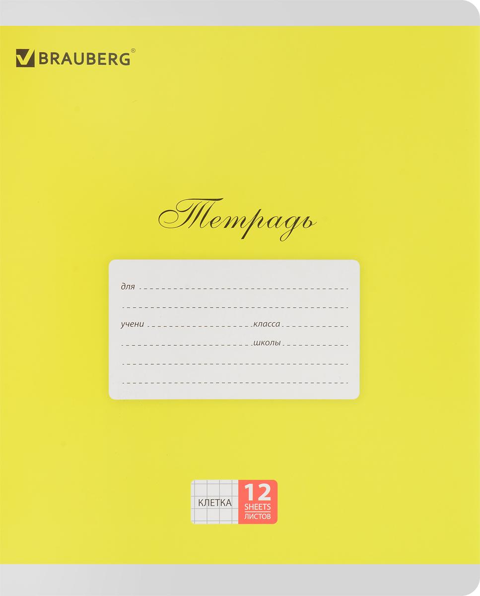 Brauberg Тетрадь Классика 12 листов в клетку цвет желтый103273_желтыйОбложка тетради Brauberg Классика выполнена из плотного картона, что позволит сохранить ее в аккуратном состоянии на протяжении всего времени использования. На задней обложке находятся меры длины, меры объема, меры массы, меры площади и таблица умножения.Внутренний блок тетради, соединенный двумя металлическими скрепками, состоит из 12 листов белой бумаги. Стандартная линовка в клетку голубого цвета дополнена полями.