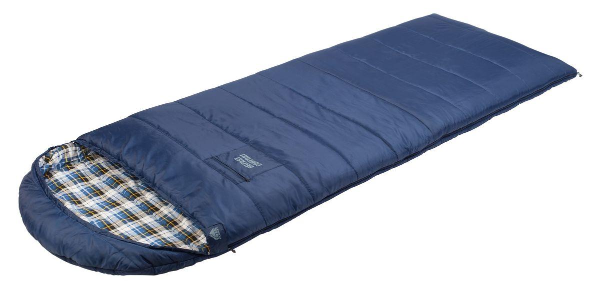 Спальный мешок TREK PLANET Belfast Comfort, цвет: темно-синий, правосторонняя молния