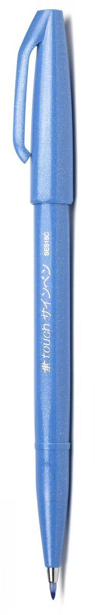 Pentel Маркер-кисть Brush Sign Pen цвет голубойSES15C-SМаркер Brush Sign Pen - уникальный инструмент для рисования. Гибкий и прочный наконечник в виде кисти позволяет рисовать линии разной толщины. Кисть удобна для создания иллюстраций, быстрых рисунков, набросков. Длина письма: 600 м. В среднем: 750 м, т.к. ширина линии меняется в зависимости от угла наклона кисти.