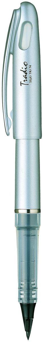 Pentel Ручка капилярная Tradio StyloTRJ74-AГибкое пластиковое перо создает особый комфорт при письме. Чернила используются до последней капли. Серебристый пластиковый корпус элегантного дизайна.