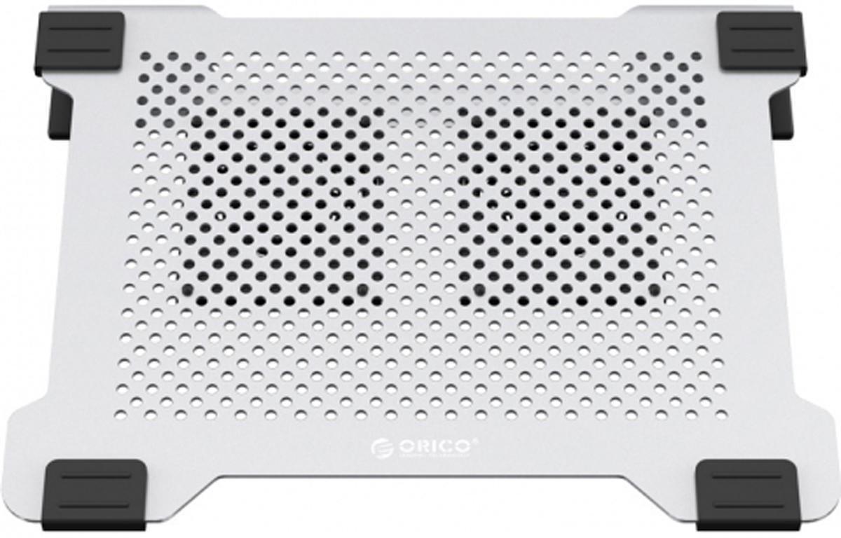 Orico NA15, Silver охлаждающая подставка для ноутбукаORICO NA15-SVМатериал, из которого выполнена подставка Orico NA15 - анодированный алюминий. Два вентилятора Orico NA15 можно установить на поверзность подставки по собственному выбору . Orico NA15 работает питаясь по одному из портов USB, но не занимая его. Шум от системы охлаждения всего 21 дБм.Характеристики:Тип устройства: Подставка для ноутбука с активным охлаждениемСовместимость: Для ноутбуков с диагональю 15 и нижеМатериал корпуса: АлюминийИнтерфейсы USB 2.0: Для питания питания вентиляторовУровень шума: 21 дБОхлаждение: Два вентилятора 80 x 80 x 10 ммГабариты 330 x 206 x 42 ммЦвет Серебристый.