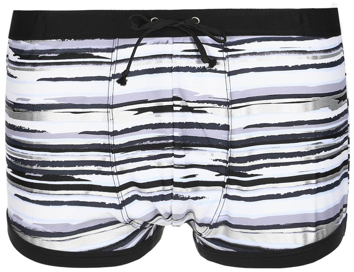 Плавки мужские Lowry, цвет: черный, серый,белый, серебристый . MST-3. Размер XXL (52) плавки мужские lowry цвет черный фиолетовый msb 1 размер l 48