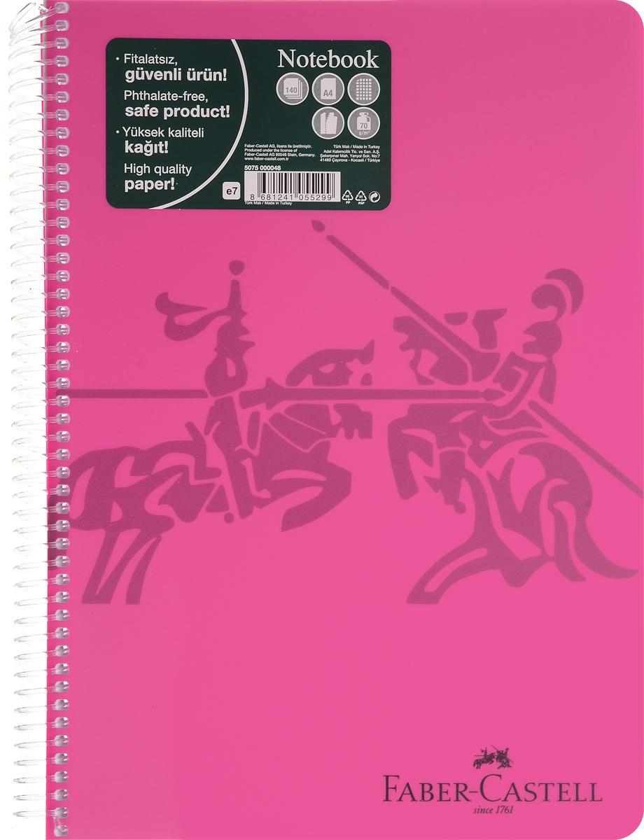 Faber-Castell Блокнот Knight 140 листов в клетку цвет розовый507048_розовыйБлокнот Faber-Castell Knight в твердой пластиковой обложке подойдет для памятных записей, любимых стихов и многого другого.Внутренний блок блокнота состоит из 140 листов в клетку, способ крепления листов - пластиковая спираль. Страницы блокнота дополнены микроперфорацией для удобного отрыва листов.Такой блокнот станет не только достойным аксессуаром среди ваших канцелярских принадлежностей, но и практичным подарком для близких и друзей.