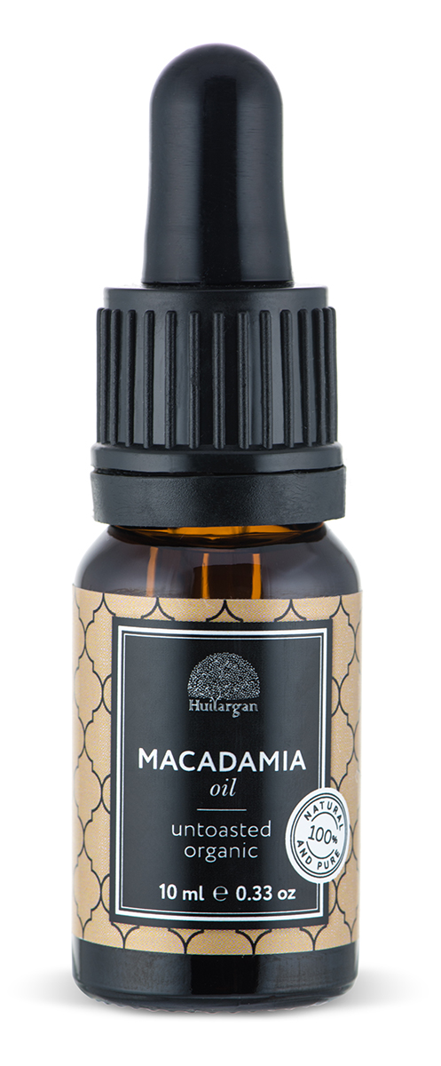 Huilargan Макадамии масло, 10 мл2000000012179Восстанавливает, питает, защищает и смягчает. Способствует заживлению ожогов. Рекомендуется для нежной, чувствительной кожи. Идеально для сухой кожи, для лечения трещин. Используется для ухода за кожей лица, тела и за волосами.Подходит для ухода за кожей вокруг глаз. Рекомендуется для предотвращения растяжек. Масло макадамии богато содержанием олеиновой и пальметиновой кислотами. Оно обладает питательным, ухаживающим и смягчающим действием.