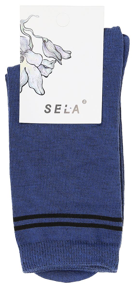 Носки женские Sela, цвет: серый. SOb-154/064-7462. Размер 21/23SOb-154/064-7462Удобные женские носки Sela изготовлены из высококачественного приятного на ощупь материала и оформлены контрастными полосками. Благодаря содержанию мягкого хлопка в составе, кожа сможет дышать, а эластан позволяет носкам легко тянуться, что делает их комфортными в носке. Мягкая эластичная резинка плотно облегает ногу, не сдавливая ее, и обеспечивает комфорт и удобство. Уважаемые клиенты! Размер, доступный для заказа, является длиной стопы.