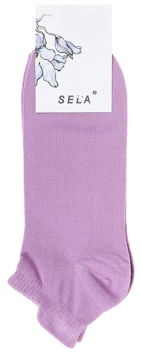 Носки женские Sela, цвет: розовый. SOb-154/058-7371. Размер 19/21SOb-154/058-7371Укороченные женские носки Sela изготовлены из высококачественного приятного на ощупь материала. Благодаря содержанию мягкого хлопка в составе, кожа сможет дышать, а эластан позволяет носкам легко тянуться, что делает их комфортными в носке. Мягкая эластичная резинка плотно облегает ногу, не сдавливая ее, и обеспечивает комфорт и удобство. Уважаемые клиенты! Размер, доступный для заказа, является длиной стопы.