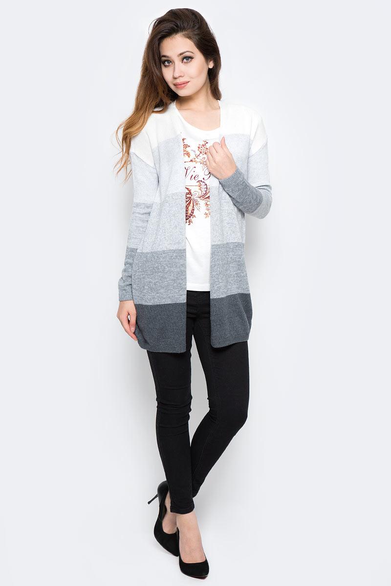 Кардиган женский Sela, цвет: серый меланж. CN-314/1258-7310. Размер S (44) женский кардиган 013a56