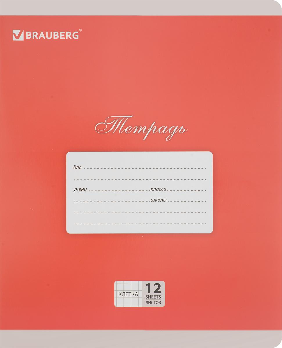 Brauberg Тетрадь Классика 12 листов в клетку цвет красный103273_красныйОбложка тетради Brauberg Классика выполнена из плотного картона, что позволит сохранить ее в аккуратном состоянии на протяжении всего времени использования. На задней обложке находятся меры длины, меры объема, меры массы, меры площади и таблица умножения.Внутренний блок тетради, соединенный двумя металлическими скрепками, состоит из 12 листов белой бумаги. Стандартная линовка в клетку голубого цвета дополнена полями.