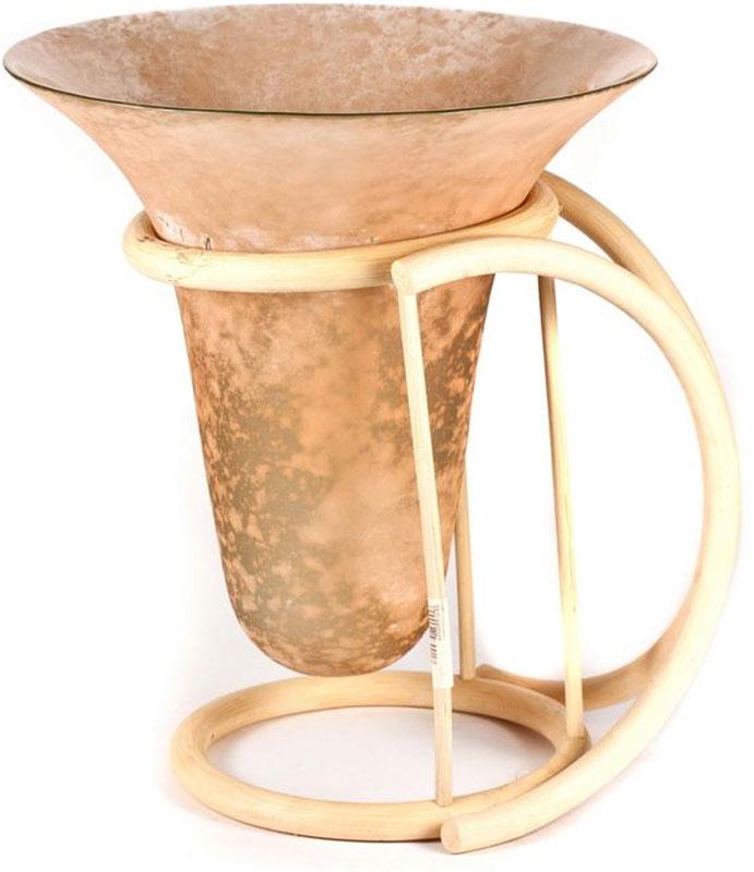 Ваза Vibesal, высота 29 смТЕР-980027Оригинальная ваза Vibesal, выполненная из стекла,расположена на подставке из ротанга. Такая ваза впишется влюбой интерьер помещения. Высота вазы, 29 см.