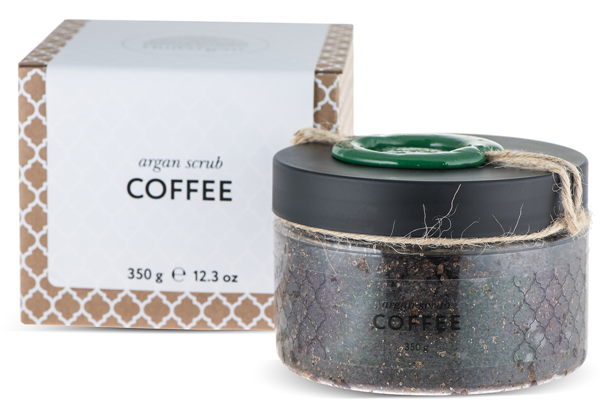 Huilargan Аргановый скраб солевой, кофейный, 350 г2000000002422100% натуральный продукт, содержащийв своем составе морскую соль и натуральный марокканский кофе. Эффективно избавляет от целлюлита, способствует расщеплению жировых отложений,придает тонус коже, оказывает тонизирующий эффект.