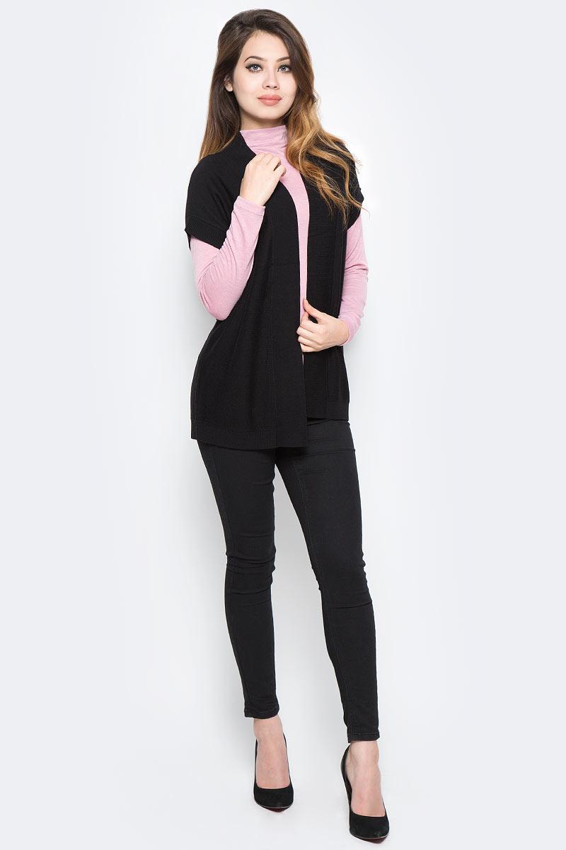 Кардиган женский Sela, цвет: черный. CNs-114/2066-7390. Размер XS (42) женский кардиган 013a56
