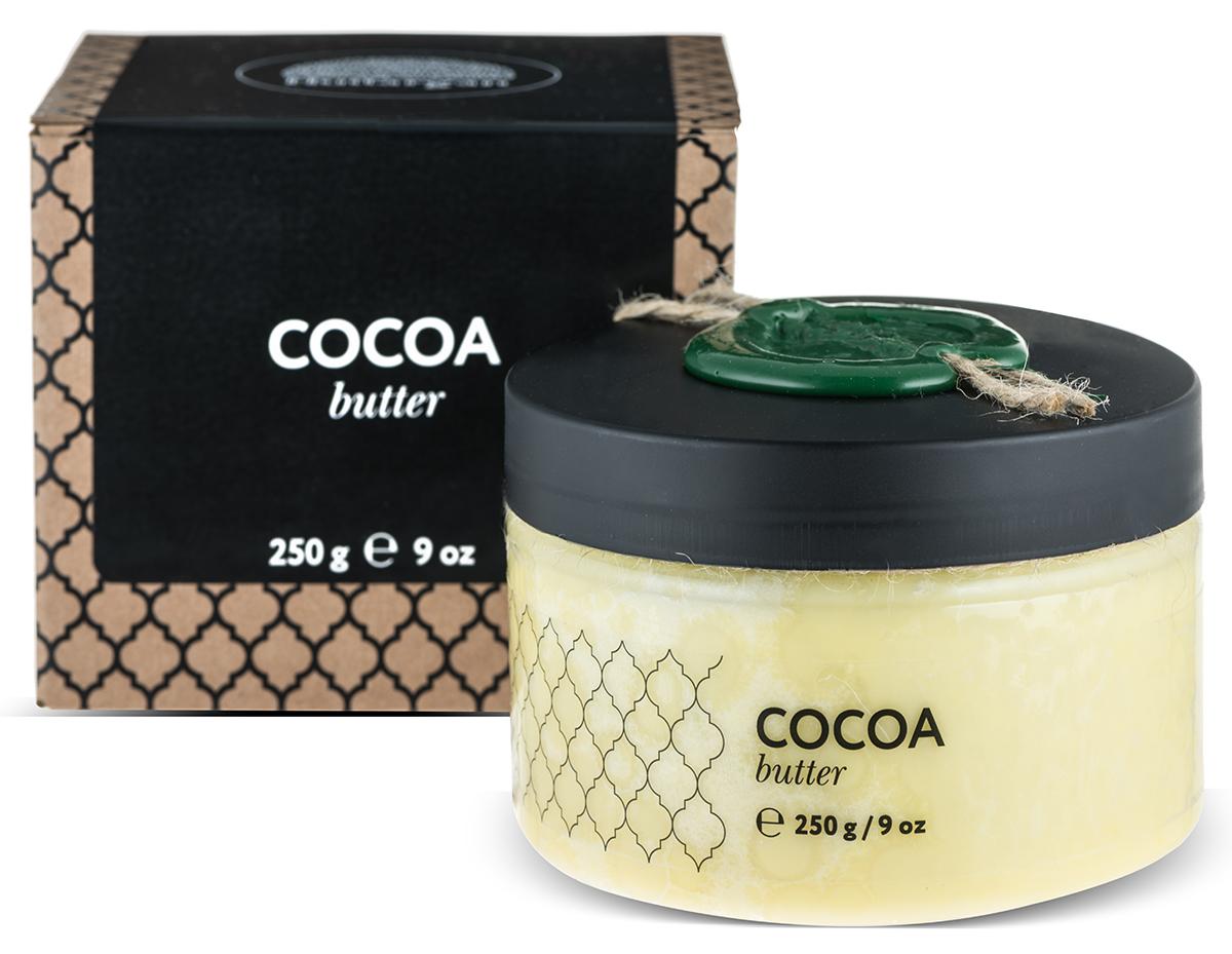 Huilargan Какао масло, баттер, 250 г2000000002552Увлажняет кожу, выводит токсины, усиливает выработку коллагена, уменьшая морщины. Обладает высоким смягчающим действием, а также является лубрикантом, усиливая скользящий эффект масел при нанесении на кожу. Усиливает выработку меланина, подходит для усиления оттенка загара. Применяется и для лечения аллергических дерматитов