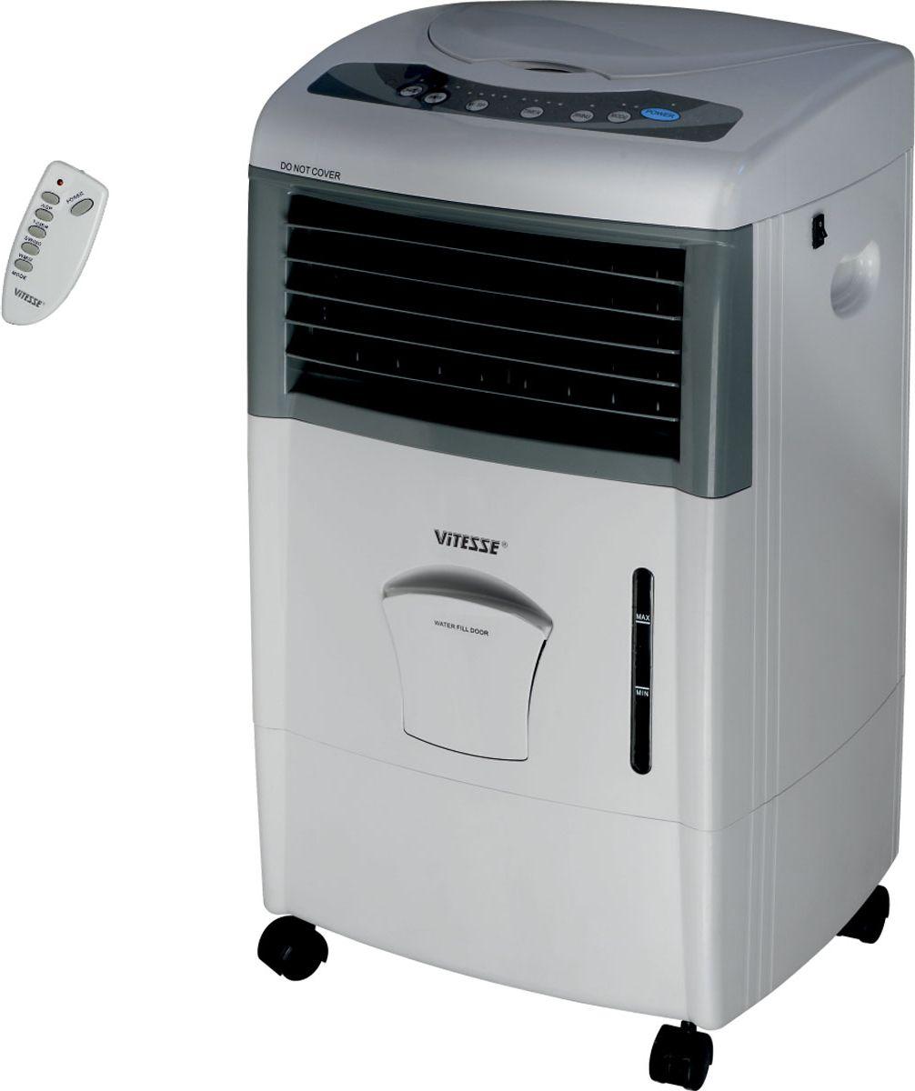 Vitesse VS-867VS-867Мобильный моноблок 5 в 1 Vitesse VS-867 совмещает в себе сразу несколько функций: нагрев и охлаждение воздуха в помещении, ионизация и увлажнение воздуха, а также вентиляция помещения.