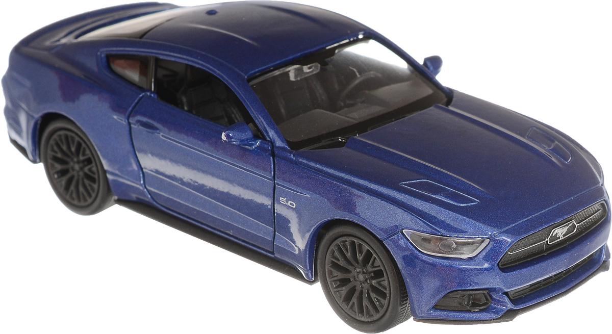 Welly Модель автомобиля Ford Mustang GT 2015 цвет синий цена 2017