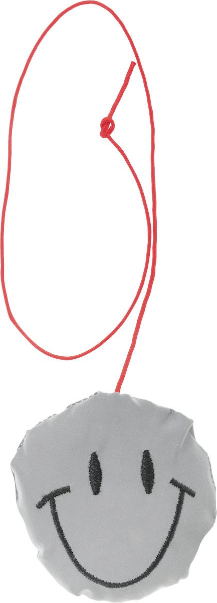 Светоотражатель пешеходный STG Смайлик, цвет: серебристый