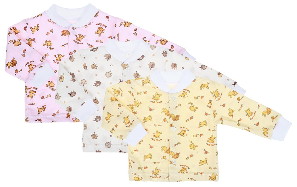 Комплект кофточек для девочки Фреш стайл, цвет в ассортименте, 3 шт. 10-201д. Размер 86, 18 месяцев