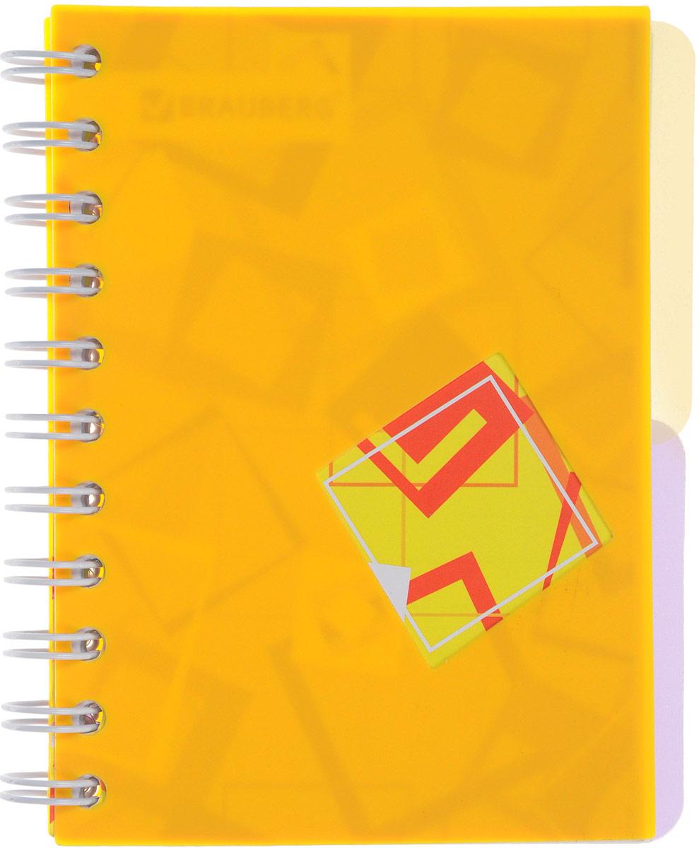 Brauberg Блокнот Кубики 120 листов в линейку цвет желтый125384_желтыйПрактичный блокнот Brauberg Кубики с яркой пластиковой обложкой, защищающей внутренний блок от износа и деформации. Удобные съемные разделители позволяют лучше ориентироваться в записях.