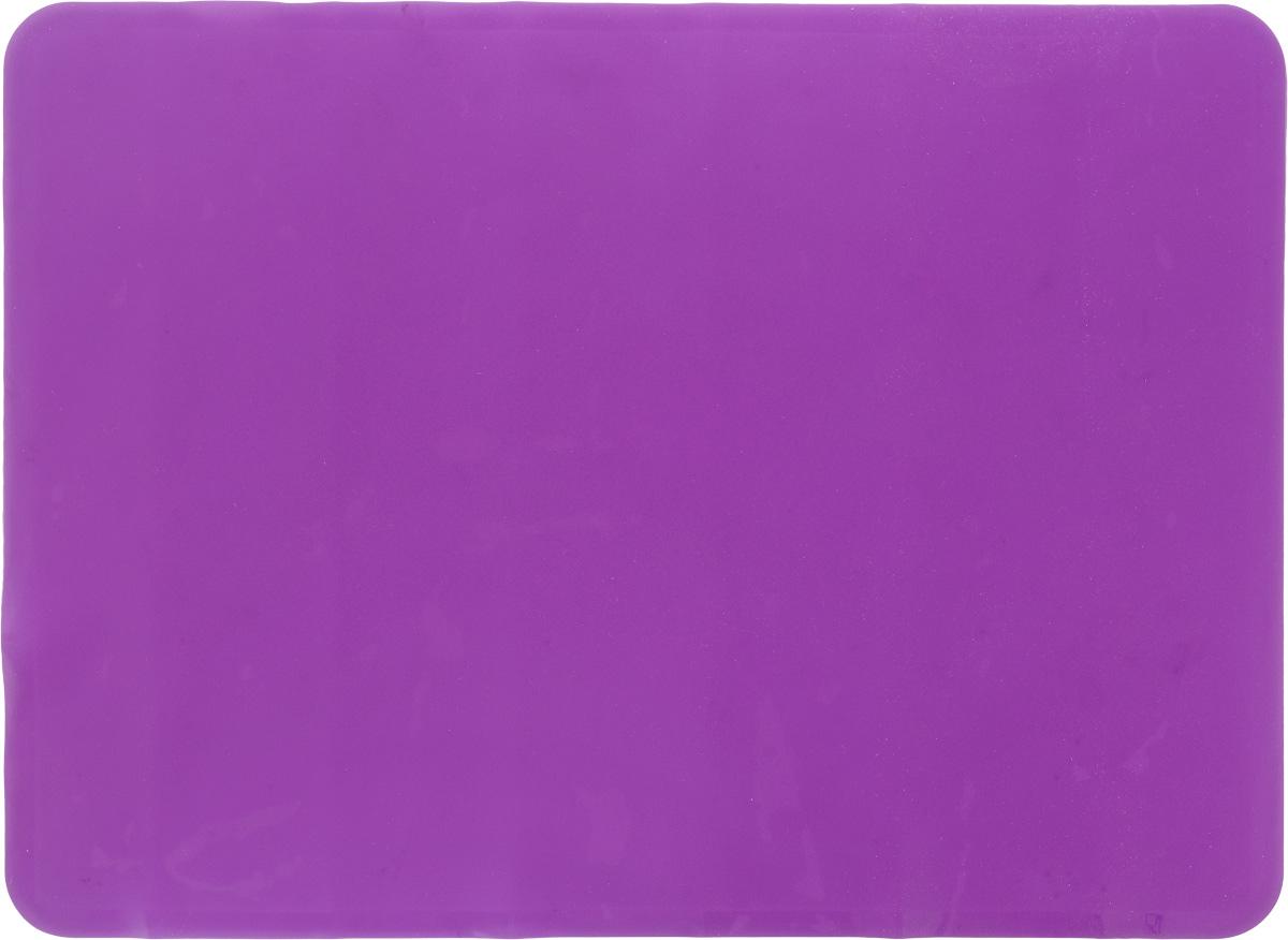 Коврик для теста Marmiton, цвет: фиолетовый, 38 х 28 см16065Силиконовый коврик Marmiton подходит для раскатки теста и обработки других продуктов. Он идеально прилегает к поверхности стола. Также коврик можно использовать в духовках и микроволновых печах при температуре от +230°С до - 40°С. Материал легко моется, устойчив к фруктовым кислотам.