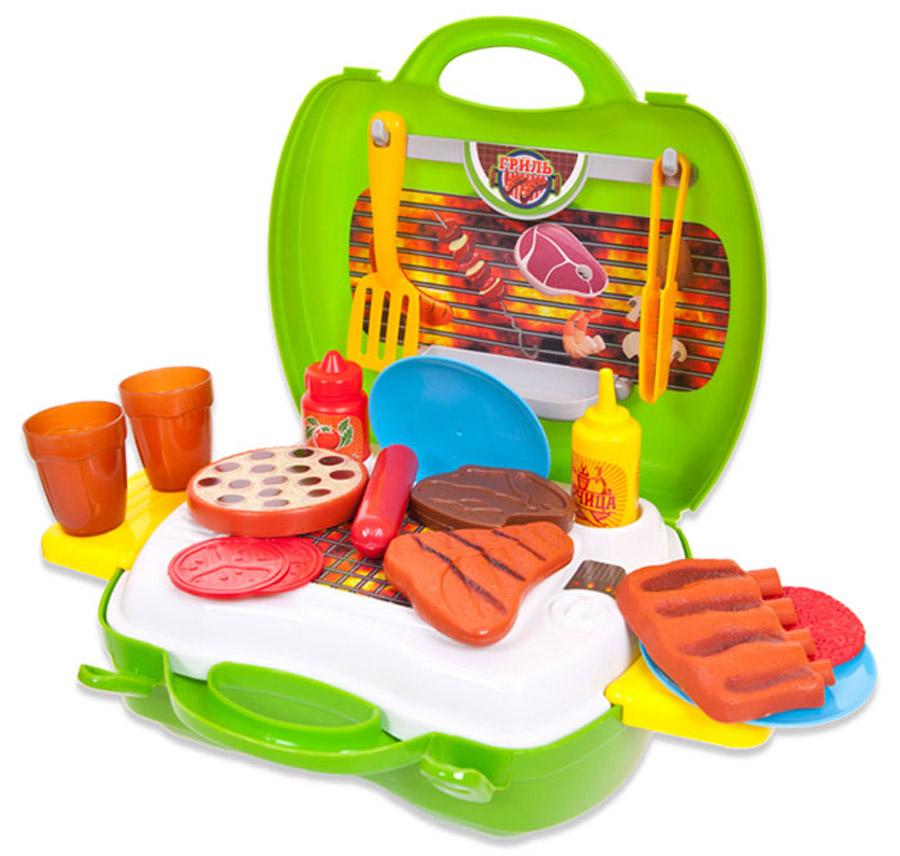 ABtoys Игровой набор Чудо-чемоданчик Гриль 23 предмета тефаль гриль 306012