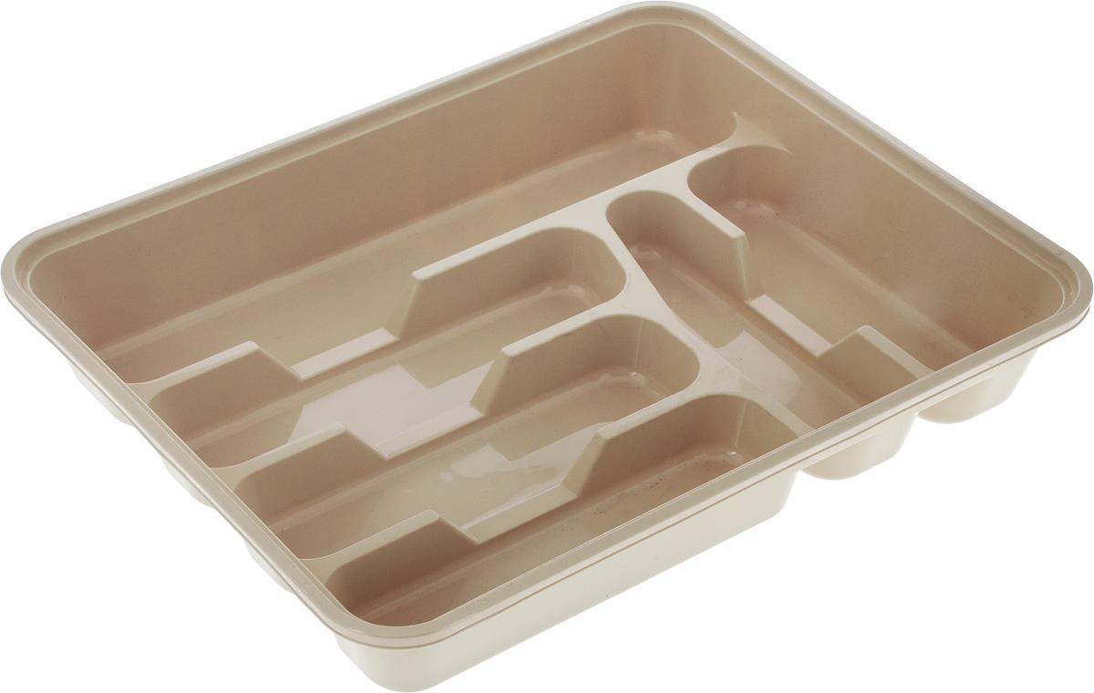 Лоток для столовых приборов Dunya Plastik, цвет: бежевый, 39 х 30 х 7 см14004_бежевыйЛоток для столовых приборов Dunya Plastik изготовлен из прочного пластика. Изделие имеет 3 одинаковых секции для столовых ложек, вилок и ножей, 2 секции для чайных ложек и длинную секцию для различных кухонных принадлежностей. Лоток помещается в любой кухонный ящик.