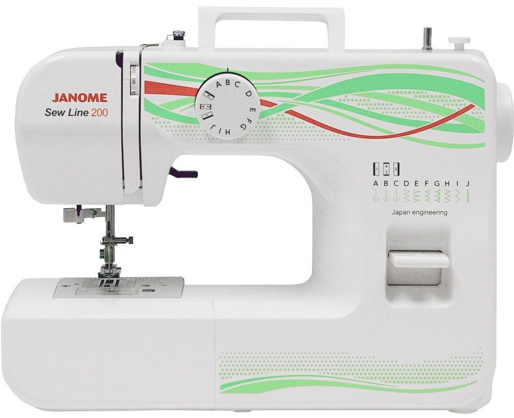 Janome Sew Line 200 швейная машина швейная машина janome sew dream 510