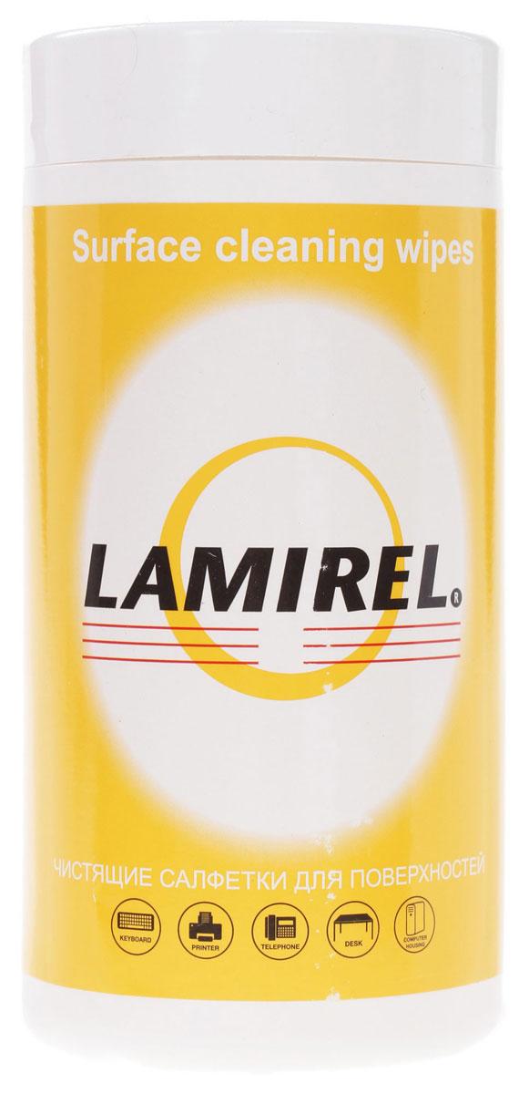 Lamirel LA-51440 чистящие салфетки для поверхностей (100 шт)LA-51440Салфетки произведены из высококачественного материала ветлейд, который обладает превосходными впитывающими свойствами, не оставляет разводов и ворсинок на очищаемой поверхности, благодаря чему подходит для очистки пластмассовых, металлических, ламинированных поверхностей, включая клавиатуры, принтеры и поверхности письменных столов. Материал салфеток и компоненты чистящего вещества полностью разлагаемы, не содержат дерматологически опасных веществ. Туба изготовлена из качественного пластика, не теряющего форму при деформации, крышка тубы плотно закрывается, что препятствует высыханию салфеток во вскрытой упаковке. Невскрытая упаковка имеет защитную перфорированную мембрану.Не предназначены для экранов и стеклянных поверхностей, хромированных покрытий, поверхностей из фанеры).Обладают антистатическими свойствами, не содержат спирт.Срок годности салфеток – 2 года с даты изготовления, во вскрытой упаковке – 4 месяца