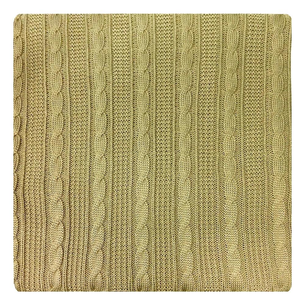 Плед Apolena, цвет: бежевый, 130 х 180 см87-V005/1Плед Apolena выполнен из мягкой объемной пряжи, обеспечивающей хорошую теплозащиту и комфорт. Высокое качество материала гарантирует отсутствие пиллинга при правильном уходе. Вязаный плед используется в качестве шали или накидки на односпальную кровать, диван или кресло. В плед можно укутаться, а также использовать в качестве декоративного элемента оформления интерьера. Вязаный плед пригодится в любое время года.Изделие дополнено модным рисунком косичка. Удобство, комфорт, стиль и экологичность в одном предмете.