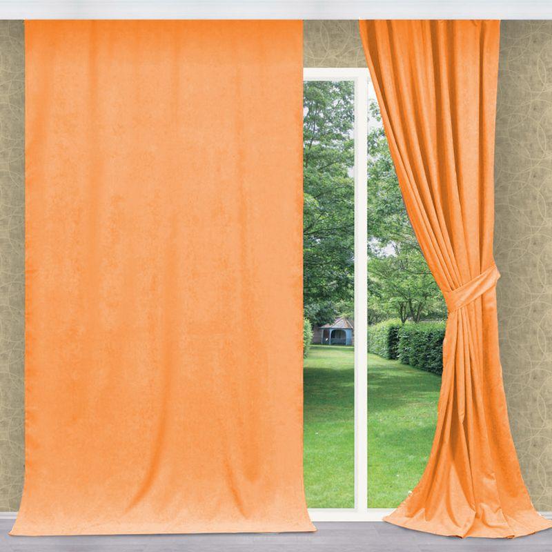 Штора Apolena Оранжевое настроение, на ленте, цвет: оранжевый, высота 270 см08-Z022/1Однотонная штора Apolena, выполненная из инновационной ткани - микроволокно (100% полиэстер), имеет плюшевую бархатистую поверхность. За счет небольшого ворса (так называемый эффект персика), ткань выглядит объемной и очень мягкой. Уникальным свойством ткани является поглощение пыли, которая не оседает на поверхности, а проникает внутрь капиллярной структуры полотна. При задергивании штор пыль не летит во все стороны и впоследствии легко удаляется при стирке. Стойкий насыщенный цвет шторы прекрасно сочетается с другими коллекциями, как в качестве компаньона, так и как самостоятельный акцентный элемент коллекции. Штора крепится к карнизу при помощи шторной ленты. Вы можете самостоятельно подобрать наиболее предпочтительный вид крючков - для потолочного или стенового карниза. При желании вы можете присборить штору с помощью лески, предварительно закрепив ее концы с обеих сторон.
