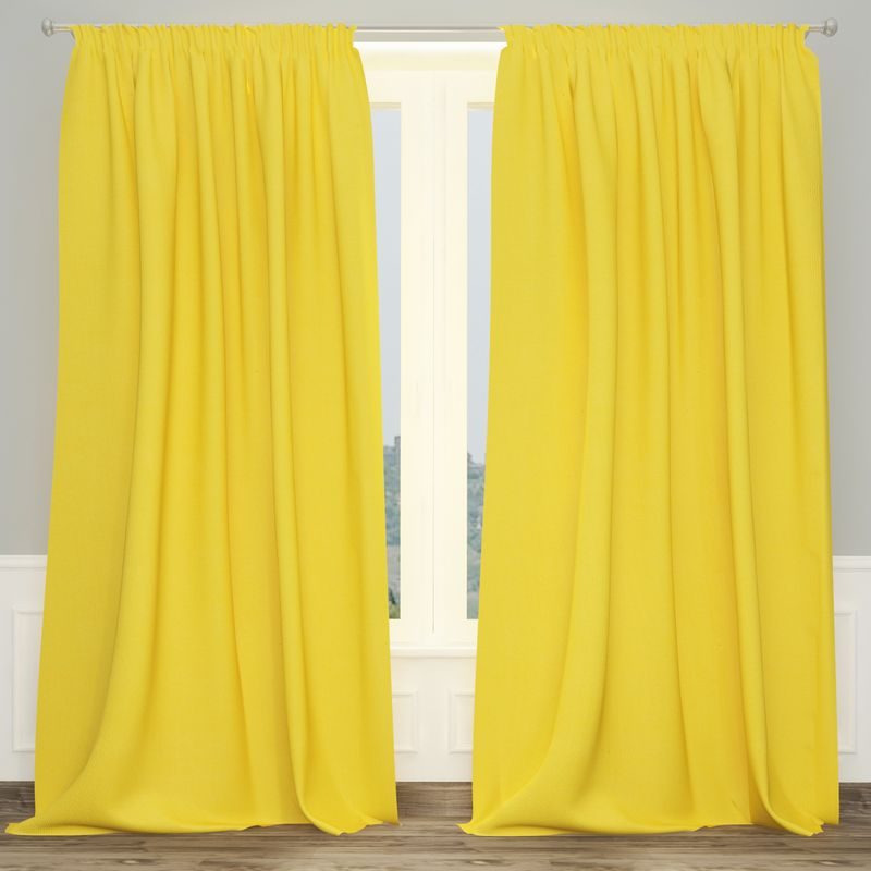Штора Apolena Лимонный фреш, на ленте, цвет: желтый, высота 270 смP08-Z036/1Однотонная штора Apolena, выполненная из инновационной ткани - микроволокно (100% полиэстер), имеет плюшевую бархатистую поверхность. За счет небольшого ворса (так называемый эффект персика), ткань выглядит объемной и очень мягкой. Уникальным свойством ткани является поглощение пыли, которая не оседает на поверхности, а проникает внутрь капиллярной структуры полотна. При задергивании штор пыль не летит во все стороны и впоследствии легко удаляется при стирке. Стойкий насыщенный цвет шторы прекрасно сочетается с другими коллекциями, как в качестве компаньона, так и как самостоятельный акцентный элемент коллекции. Штора крепится к карнизу при помощи шторной ленты. Вы можете самостоятельно подобрать наиболее предпочтительный вид крючков - для потолочного или стенового карниза. При желании вы можете присборить штору с помощью лески, предварительно закрепив ее концы с обеих сторон.