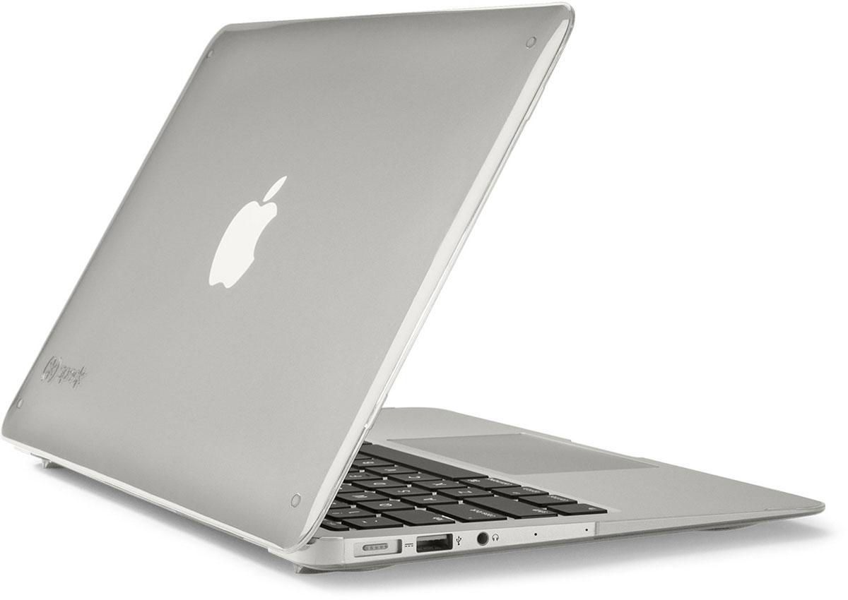 Speck SeeThru чехол для Apple MacBook Air 11, Clear71450-1212Стильный чехол Speck SeeThru обеспечит надежную защиту вашего ноутбука от царапин и иных повреждений поверхности, которые рано или поздно появляются при регулярном использовании. Благодаря тонкому пластику чехол не увеличит размеры и вес ноутбука, а также не затруднит доступ к портам.