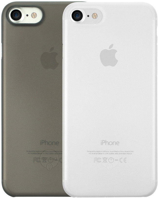 Ozaki O!coat Jelly+Pocket набор чехлов для iPhone 7/8, Black Clear