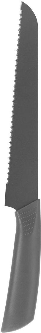 Нож для хлеба Vitesse Lacey, цвет: серыйVS-1748-greyНож для хлеба Vitesse Lacey станет замечательным дополнением к вашему кухонному инвентарю. Такой нож позволит легко нарезать хлебобулочные изделия, не сминая их и не кроша середину. Нож изготовлен из высококачественной нержавеющей стали с покрытием, не допускающим прилипания продуктов. Он имеет острую зазубренную режущую кромку, которая легко затачивается. Тщательно проработанный дизайн рукоятки с нескользящим прорезиненным покрытием позволяет ножу удобно располагаться в руке. Характеристики: Материал:нержавеющая сталь, резина. Длина лезвия ножа:17,5 см. Общая длина ножа:32 см. Цвет:серый.Артикул:VS-1748.