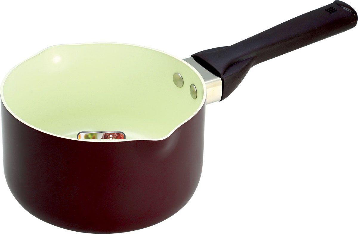 Ковш Vitesse для молока. Диаметр 16 смVS-2211Ковш для молока Vitesse с воронкой станет незаменимым помощником на кухне. Особенности:Ковш изготовлен из высококачественного алюминия, толщина - 2,5 мм. Внешнее элегантное цветное покрытие, подвергшееся высокотемпературной обработке. Бакелитовая, высокопрочная, огнестойкая, не нагревающаяся ручка удобной формы на заклепках.Внутреннее керамическое покрытие. Быстрый нагрев и равномерное распределение тепла по всей поверхности. Стойкое керамическое покрытие позволяет готовить при температуре до 450 градусов. Можно использовать металлическую лопатку. Пригоден для мытья в посудомоечной машине. Подходит для всех видов варочных панелей. Характеристики:Материал: алюминий. Диаметр: 16 см. Высота стенок:9,5 см.Артикул: VS-2211.