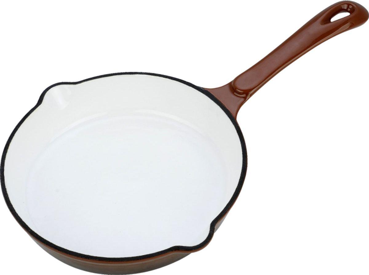 Сковорода чугунная Vitesse. Диаметр 21 см жаровня чугунная vitesse с прихватками 4 л