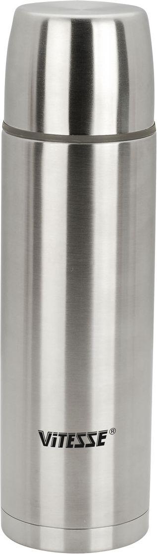 Термос Vitesse Classic, 1,2 л. VS-8306VS-8306Термос Vitesse Classic выполнен из высококачественной нержавеющей стали 18/10 с матовой полировкой. Термос имеет вакуумную изоляцию, которая на сегодняшний день является самым эффективным способом сохранения напитков как горячими, так и холодными. Вы сможете приготовить чай и кофе непосредственно в термосе. Термос оснащен крышкой-чашкой и дополнительной пластиковой чашкой. Пробка легко фиксируется. Легкий и удобный он станет незаменимым спутником в ваших поездках. Термос можно мыть в посудомоечной машине.Характеристики:Материал:нержавеющая сталь 18/10, пластик.Объем:1,2 л. Высота (с учетом крышки):32 см. Размер крышки-чашки:9 см х 6,5 см х 9 см. Размер пластиковой чашки:8 см х 4,5 см х 8 см. Размер упаковки:9,5 см х 33 см х 9,5 см.Изготовитель:Китай.Артикул:VS-8306. Кухонная посуда марки Vitesseиз нержавеющей стали 18/10 предоставит вам все необходимое для получения удовольствия от приготовления пищи и принесет радость от его результатов. Посуда Vitesseобладает выдающимися функциональными свойствами. Легкие в уходе кастрюли и сковородки имеют плотно закрывающиеся крышки, которые дают возможность готовить с малым количеством воды и экономией энергии, и идеально подходят для всех видов плит: газовых, электрических, стеклокерамических и индукционных. Конструкция дна посуды гарантирует быстрое поглощение тепла, его равномерное распределение и сохранение.Великолепно отполированная поверхность, а также многочисленные конструктивные новшества, заложенные во все изделия Vitesse , позволит вам открыть новые горизонты приготовления уже знакомых блюд.Для производства посуды Vitesseиспользуются только высококачественные материалы, которые соответствуют международным стандартам.