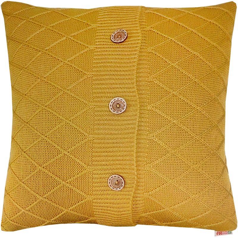 Наволочка декоративная Altali Листопад Rhomb, 45 х 45 см02-V473/1Наволочка декоративная Altali выполнена из акрила. Вязаная подушка в доме - признак уюта и стиля. В отличие от тканевой подушки вязаные изделия более эластичные и структурные. Рисунок вязки гармонично впишется в любой интерьер. Чехол съемный, на пуговицах. Его можно стирать в деликатном режиме, сушить на горизонтальной поверхности.