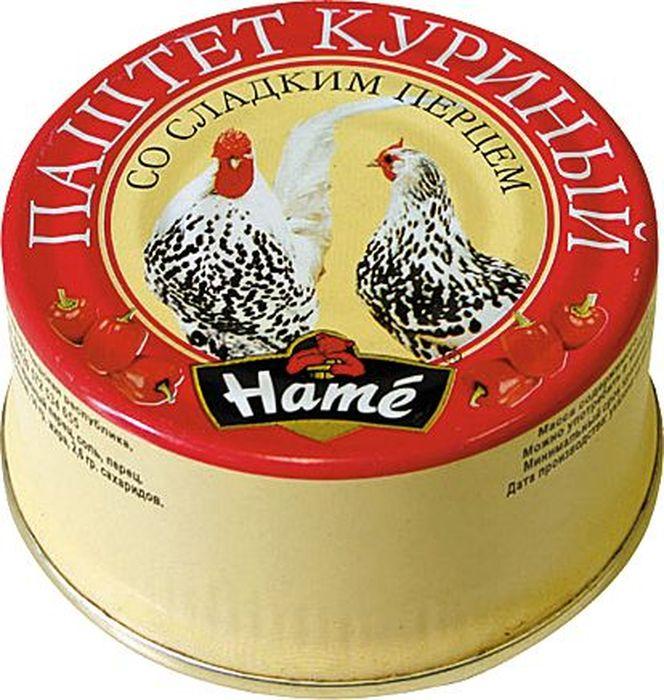 Hame Паштет куриный со сладким перцем, 117 г паштет argeta куриный 95г