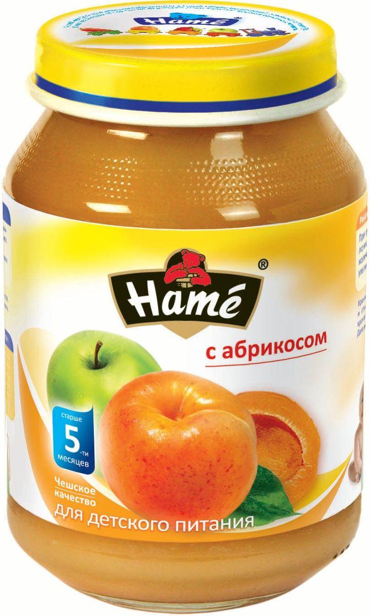 Hame абрикос фруктовое пюре, 190 г23600061702101Фруктовое пюре для детей раннего возраста. Чешское качество.Пищевая ценность в 100 г продукта:Белок, г - 0,3Жир, г - 0,3Углеводы, г - 19,9При вскрытии банки должен быть слышен хлопок. Чистой сухой ложкой перемешать содержимое и взять необходимое количество. Прием пюре начинать с 1 чайной ложки в день, увеличивая к 12 месяцам до 100 г в день. Не добавлять сахар.