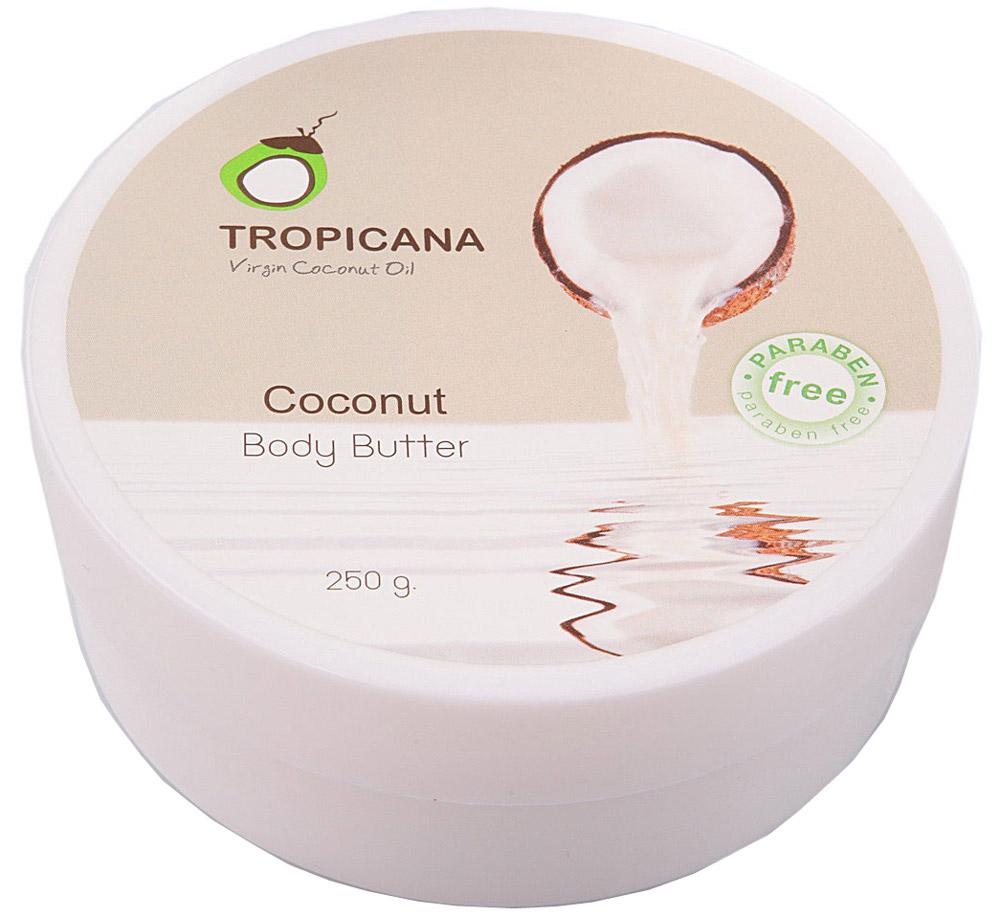 Кокосовый крем для тела Tropicana, 250 грA17065/09Интенсивно питает, увлажняет и восстанавливает кожу. Крем-масло насыщено маслом кокоса, витамином Е, маслом семян подсолнечника, масло ши, маслом сладкого миндаля, маслом какао, благодаря чему кожа становится здоровой, сияющей, упругой и гладкой. Масла плодов какао и ши глубоко питают и смягчают кожу, повышают тонус кожи, предотвращая ее дряблость, придают коже мягкость и шелковистость, уменьшают глубину морщин. Для всех типов кожи (особенно подходит для сухой кожи).