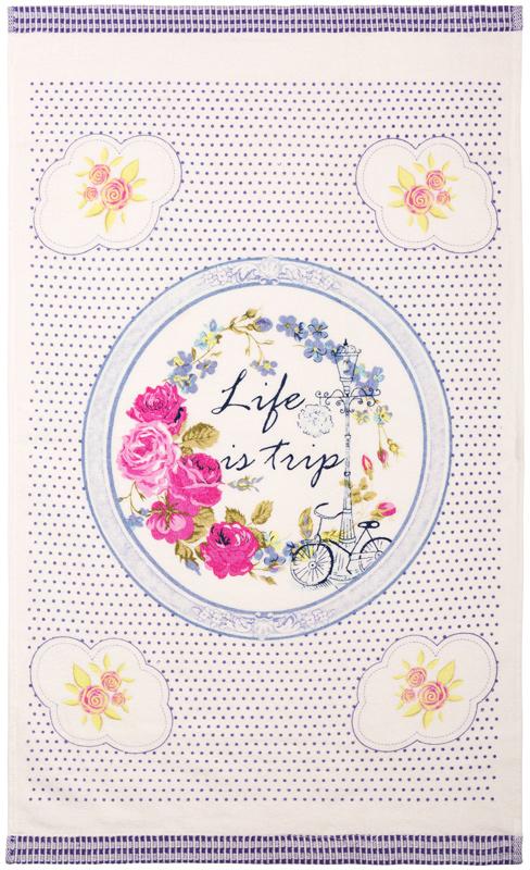 Полотенце кухонное Iris, цвет: белый, синий, 40 х 70 см. ПК-06ПК-06Ваша кухня может быть самой привлекательной, стильной и индивидуальной, благодаря кухонному полотенцу марки Iris из натурального хлопка. Имеется петля-вешалка у каждого полотенца.Размер: 40 х 70 см.