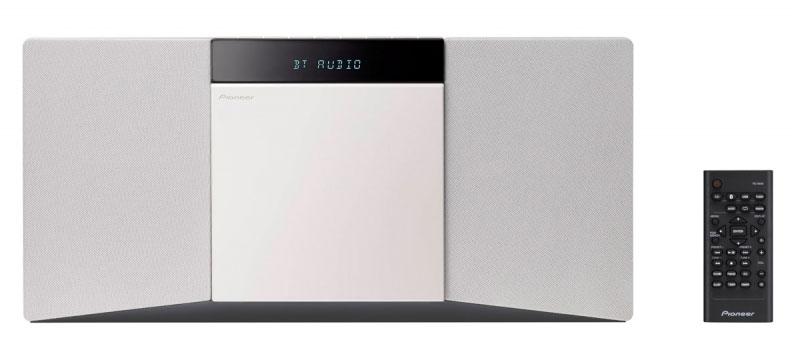 Pioneer X-SMC02-W, White микросистемаX-SMC02-WЕсли вы любите постоянно слушать музыку, но у вас в помещении недостаточно места, вот вам идеальное решение. Будучи помещенным в простой компактный корпус, который можно разместить на полке либо установить на стену, X-SMC02 позволяет прослушивать песни через аудиовход/USB/Bluetooth, проигрывать компакт-диски либо наслаждаться программами FM-радио. Активируемая через аудиовход функция автоматического пробуждения обеспечивает беспрепятственное мгновенное воспроизведение со смартфонов или цифровых аудиоплееров. Наслаждайтесь заполняющим всю комнату стереофоническим звучанием, производимым направленными наружу акустическими системами.2*10Вт, CD/USB/FM/AUX/Bluetooth, Часы, таймер сна, крепление на стену
