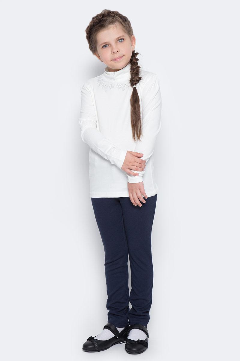 Блузка для девочки Free Age, цвет: молочный. ZG 28078-V2. Размер 128, 7 летZG 28078-V2Блузка для девочки Free Age с длинными рукавами выглядит повседневно и нарядно. Она изготовлена из хлопка с добавлением эластана. Спереди по линии горловины модель украшена деликатной вышивкой серебряными нитками с маленькими стразами. Блузка Free Age великолепно подойдет под любой стиль одежды.