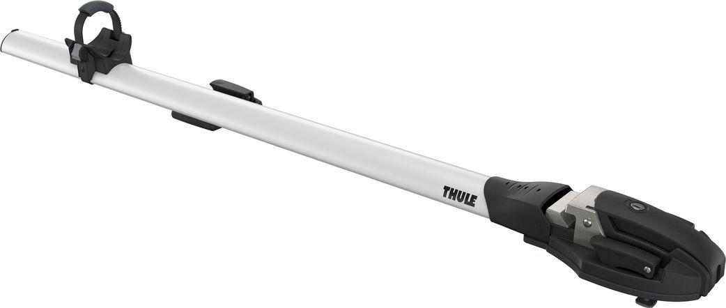 Крепление Thule ThruRide, для перевозки велосипеда за вилку переднего колеса на крыше автомобиля. Thule ThruRide  - Багажник с вилочным креплением для транспортировки велосипедов со сквозной осью любого диаметра без дополнительных переходников.